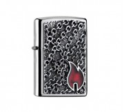 Zippo Flame with Chains