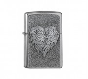 Zippo Heart with feathers