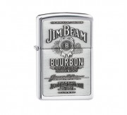 Zippo Jim Beam label (chrome)
