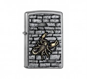 Zippo Scorpion on the wall