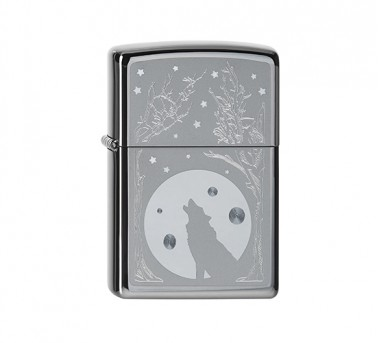 Zippo Wolf and Moon
