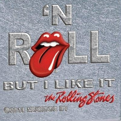 Rolling Stones aansteker met de tekst 'Rock 'n roll but i like it'